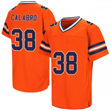 Men's AJ Calabro Syracuse Orange Replica Orange Colosseum Football College Jersey