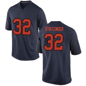 Men's Allen Stritzinger Syracuse Orange Nike Game Orange Navy Football College Jersey