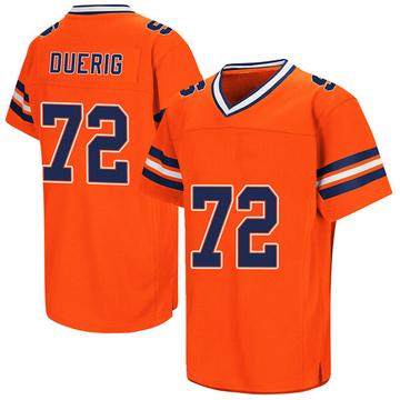 Men's Andrejas Duerig Syracuse Orange Replica Orange Colosseum Football College Jersey