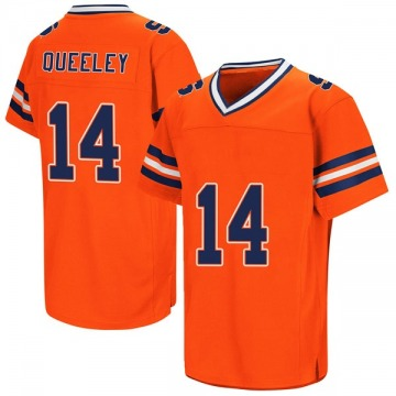 Men's Anthony Queeley Syracuse Orange Replica Orange Colosseum Football College Jersey