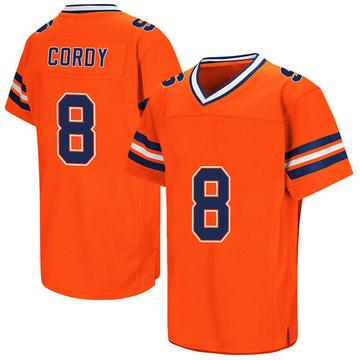 Men's Antwan Cordy Syracuse Orange Game Orange Colosseum Football College Jersey