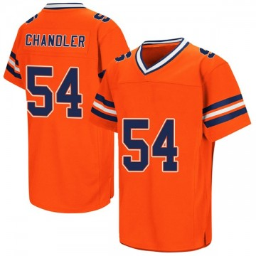 Men's Austin Chandler Syracuse Orange Replica Orange Colosseum Football College Jersey