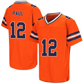 Men's Brendan Paul Syracuse Orange Replica Orange Colosseum Football College Jersey