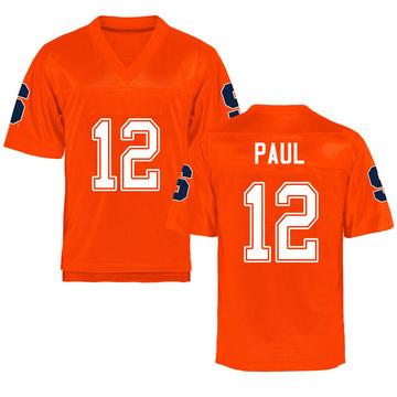 Men's Brendan Paul Syracuse Orange Replica Orange Football College Jersey
