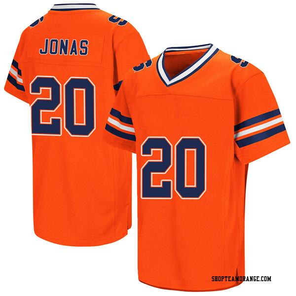 Men's Cam Jonas Syracuse Orange Replica Orange Colosseum Football College Jersey