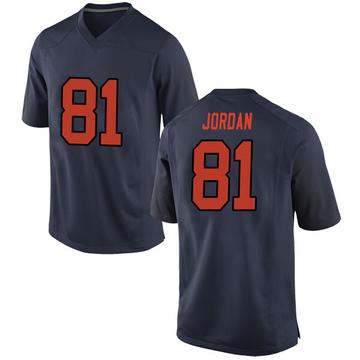 Men's Cameron Jordan Syracuse Orange Nike Replica Orange Navy Football College Jersey