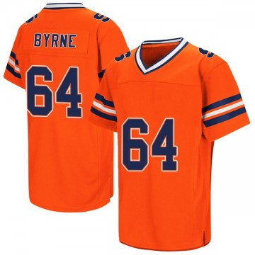 Men's Colin Byrne Syracuse Orange Replica Orange Colosseum Football College Jersey