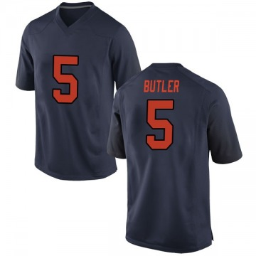 Men's Devin C. Butler Syracuse Orange Nike Game Orange Navy Football College Jersey