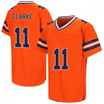 Men's Devon Clarke Syracuse Orange Replica Orange Colosseum Football College Jersey
