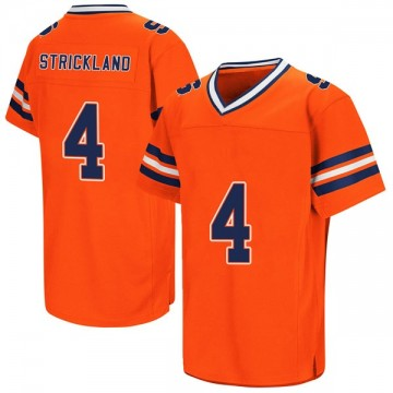 Men's Dontae Strickland Syracuse Orange Game Orange Colosseum Football College Jersey