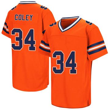 Men's Eric Coley Syracuse Orange Replica Orange Colosseum Football College Jersey