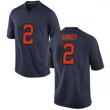 Men's Eric Dungey Syracuse Orange Nike Game Orange Navy Football College Jersey
