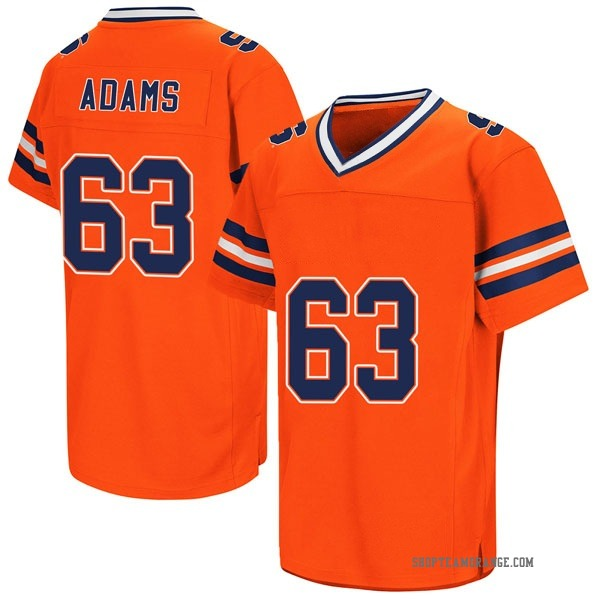 Men's Evan Adams Syracuse Orange Game Orange Colosseum Football College Jersey