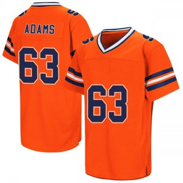 Men's Evan Adams Syracuse Orange Replica Orange Colosseum Football College Jersey