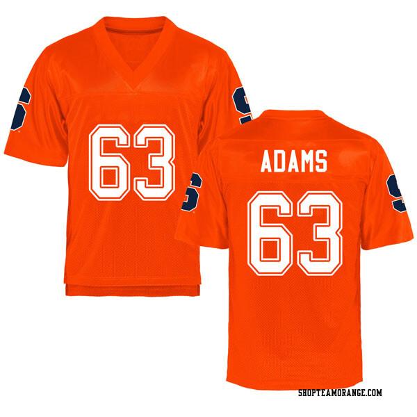 Men's Evan Adams Syracuse Orange Replica Orange Football College Jersey