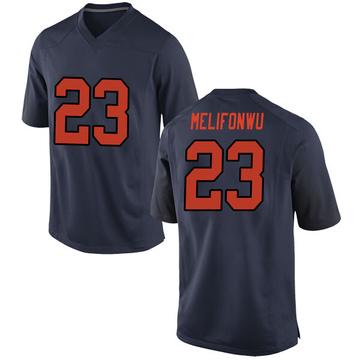 Men's Ifeatu Melifonwu Syracuse Orange Nike Replica Orange Navy Football College Jersey