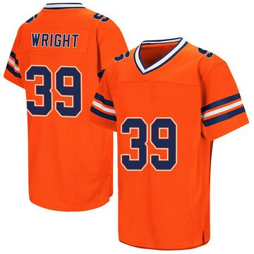 Men's Jake Wright Syracuse Orange Game Orange Colosseum Football College Jersey