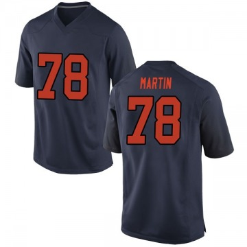 Men's Koda Martin Syracuse Orange Nike Game Orange Navy Football College Jersey
