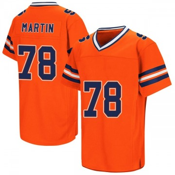 Men's Koda Martin Syracuse Orange Replica Orange Colosseum Football College Jersey