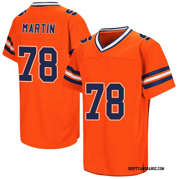 Men's Koda Martin Syracuse Orange Replica Orange Colosseum Football College Jersey