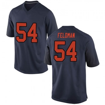 Men's Ky Feldman Syracuse Orange Nike Replica Orange Navy Football College Jersey