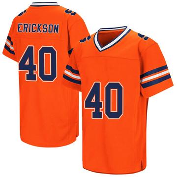 Men's Luke Erickson Syracuse Orange Replica Orange Colosseum Football College Jersey