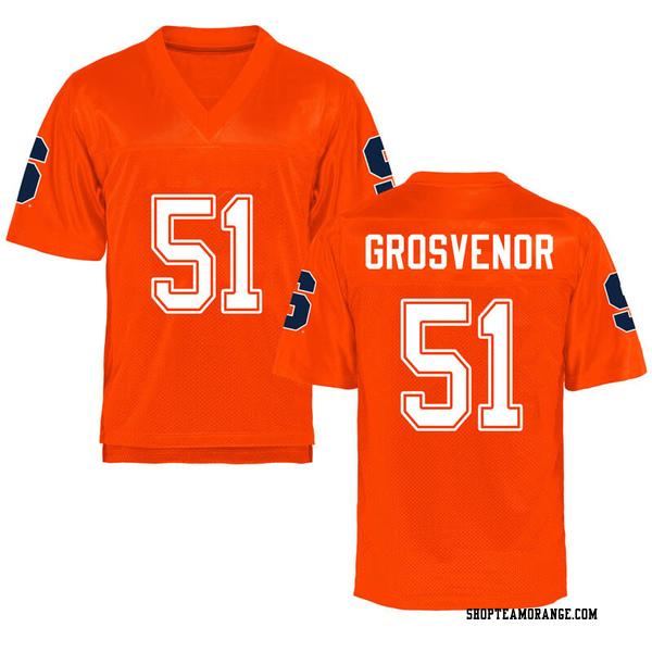 Men's Shaquille Grosvenor Syracuse Orange Game Orange Football College Jersey