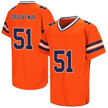 Men's Shaquille Grosvenor Syracuse Orange Replica Orange Colosseum Football College Jersey