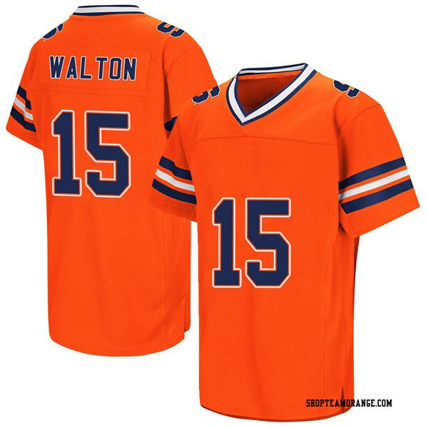 Men's Tim Walton Syracuse Orange Replica Orange Colosseum Football College Jersey