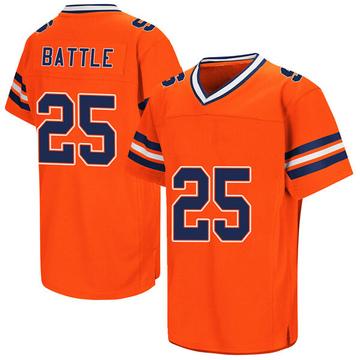 Men's Tyus Battle Syracuse Orange Replica Orange Colosseum Football College Jersey