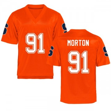 Men's Zach Morton Syracuse Orange Game Orange Football College Jersey