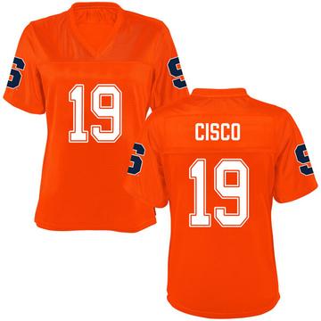 Women's Andre Cisco Syracuse Orange Replica Orange Football College Jersey