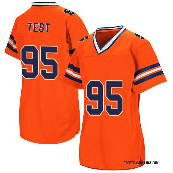Women's Chris Slayton Syracuse Orange Replica Orange Colosseum Football College Jersey