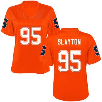 Women's Chris Slayton Syracuse Orange Replica Orange Football College Jersey