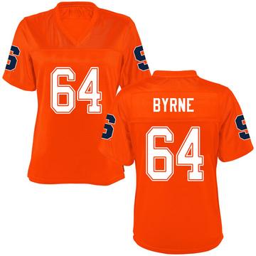 Women's Colin Byrne Syracuse Orange Game Orange Football College Jersey