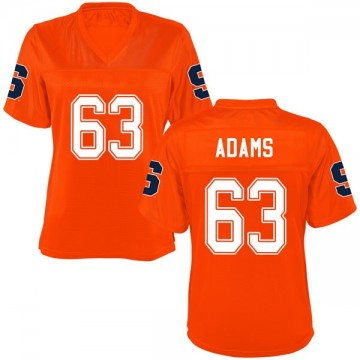 Women's Evan Adams Syracuse Orange Replica Orange Football College Jersey