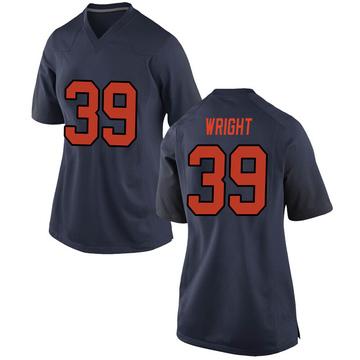 Women's Jake Wright Syracuse Orange Nike Replica Orange Navy Football College Jersey