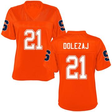 Women's Marek Dolezaj Syracuse Orange Replica Orange Football College Jersey