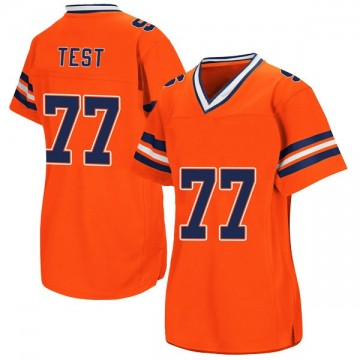 Women's Mike Clark Syracuse Orange Replica Orange Colosseum Football College Jersey