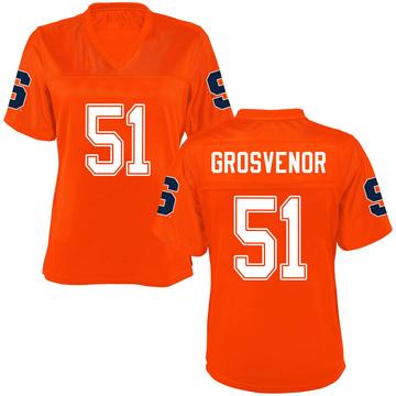 Women's Shaquille Grosvenor Syracuse Orange Game Orange Football College Jersey
