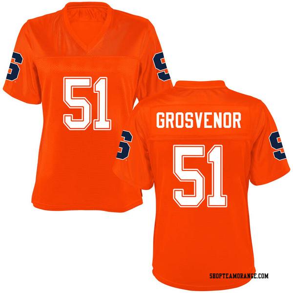 Women's Shaquille Grosvenor Syracuse Orange Replica Orange Football College Jersey