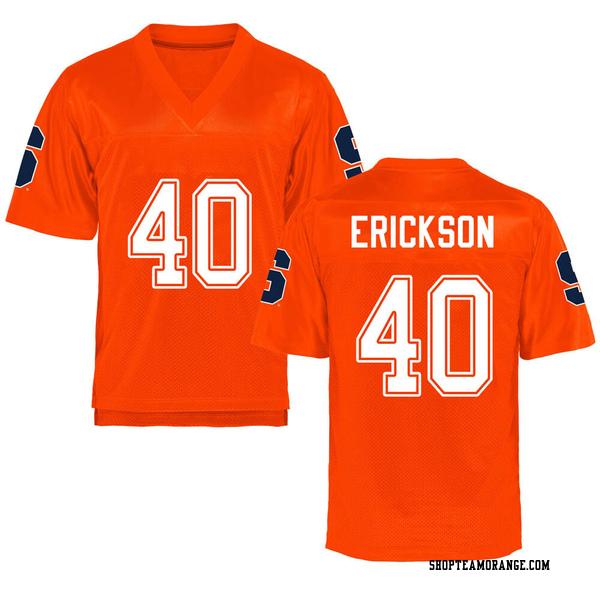 Youth Luke Erickson Syracuse Orange Game Orange Football College Jersey