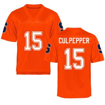 Youth Rex Culpepper Syracuse Orange Game Orange Football College Jersey