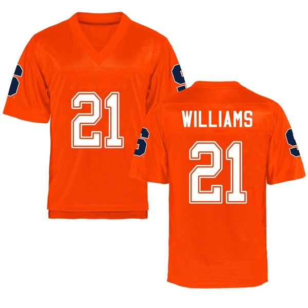 Youth Trill Williams Syracuse Orange Replica Orange Football College Jersey