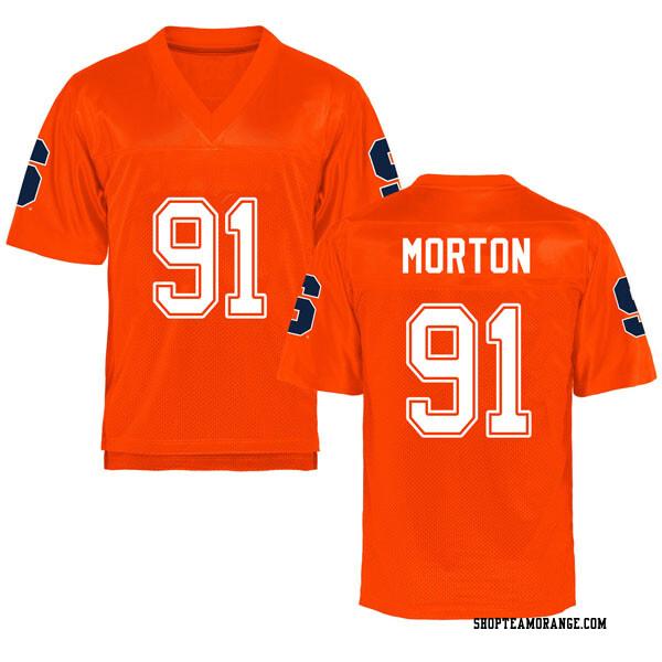 Youth Zach Morton Syracuse Orange Replica Orange Football College Jersey